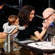 Jô Soares ficou encantando com o filho de Sophie Charlotte e Daniel de Oliveira, Otto. 'Eu adoro bebê, fico doidinho. Que coisa mais bonitinha!'