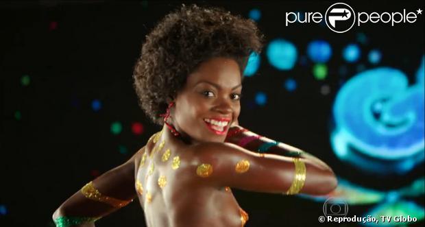 A vinheta do carnaval 2014 para TV Globo com a nova Globeleza, Nayara Justino, foi apresentada em primeira mão no 'Fantástico', no dia 5 de janeiro de 2014
