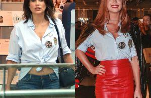 Flávia Alessandra X Marina Ruy Barbosa: atrizes repetem camisa em look. Fotos!