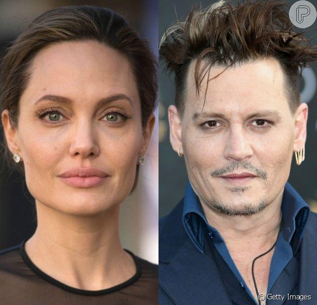 Separada de Brad Pitt, Angelina Jolie estaria vivendo um romance com o ator Johnny Depp