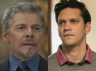 'A Lei do Amor': Tião é denunciado por Jéssica, leva soco de Bruno e o ameaça