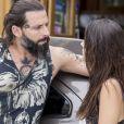 Milena (Giovanna Lancellotti) e Ralf (Henri Castelli) estão apaixonados, na novela 'Sol Nascente'