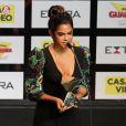 Lucy Alves ganhou o prêmio de Melhor Atriz Revelação por interpretar a personagem Luzia na novela 'Velho Chico'