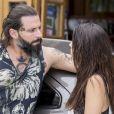 Ralf (Henri Castelli) se declara para Milena (Giovanna Lancellotti), na novela 'Sol Nascente'