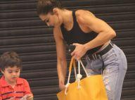 Juliana Paes exibe braços definidos em passeio com os filhos no shopping. Fotos!