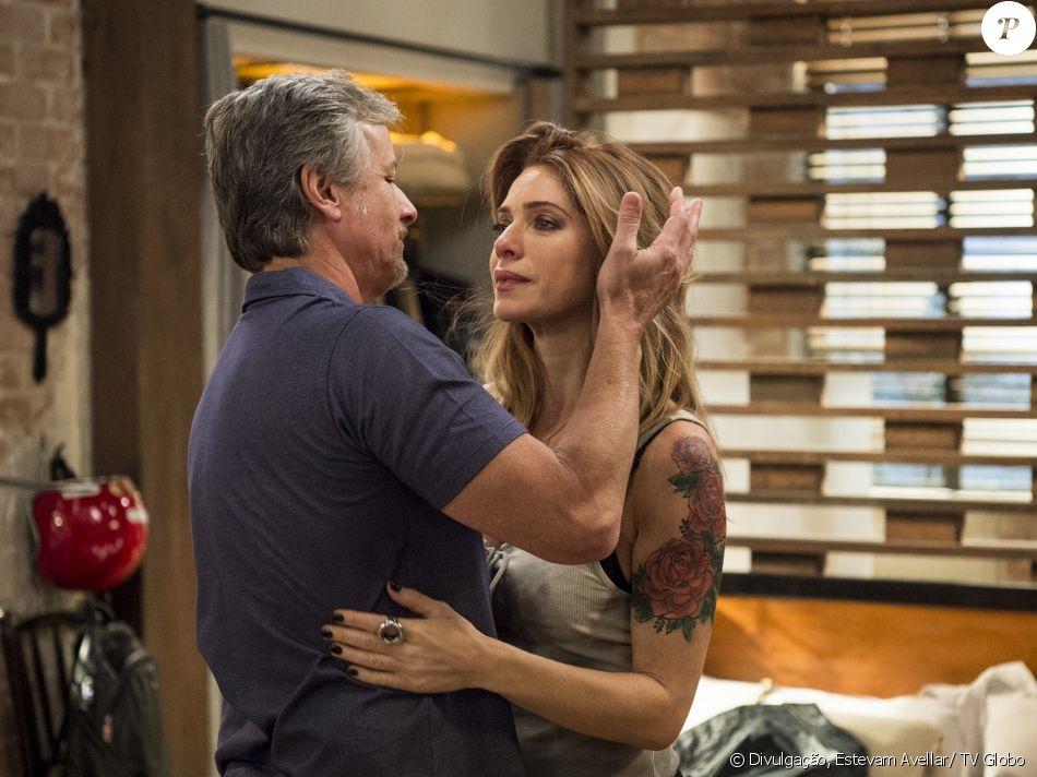 Lenita (Leticia Spiller) pede Vittorio (Marcello Novaes) em casamento, na novela 'Sol Nascente', em 14 de dezembro de 2016