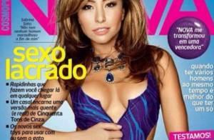 Sabrina Sato exibe decote ousado em capa de revista feminina