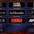 Indicados a melhor filme para o Oscar 2013 aparecem no telão