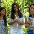 Bruna Marquezine e a irmã, Luana Marquezine, dão entrevista para o 'Vídeo Show' e falam sobre 'Em Família'