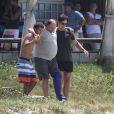 Gabriel Braga Nunes, Ronny Kriwat e Nelson Baskerville gravam cenas de 'Em Família'