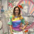 Ana Furtado visita barracão da Grande Rio, na Cidade do Samba, no Rio de Janeiro, em 13 de fevereiro de 2014