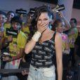 Tainá Müller ficou surpresa com a recepção calorosa dos fãs no camarote
