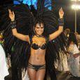 Mariana Rios usa fantasia confeccionada pelo estilista Saulo Henriques e mostra boa forma antes de desfilar pela Mocidade