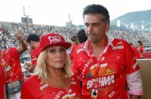 Susana Vieira troca beijos com ex-prefeito de Jaguariúna no sambódromo do Rio