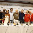Cauã Reymond participa da coletiva de imprensa do filme 'Alemão', de José Eduardo Belmonte, no Rio de Janeiro. Antonio Fagundes, Caio Blat e Otávio Muller também estiveram no evento (10 de maro de 2014)
