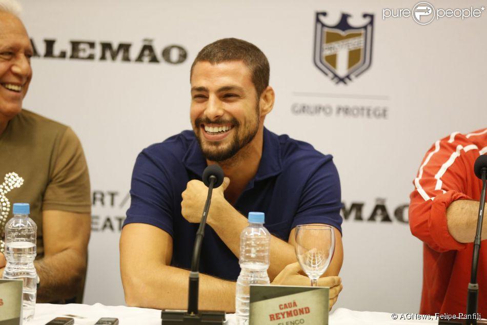 Cauã Reymond participa da coletiva de imprensa do filme 'Alemão' e conta como foi o laboratório para atuar no longa-metragem (10 de março de 2014)