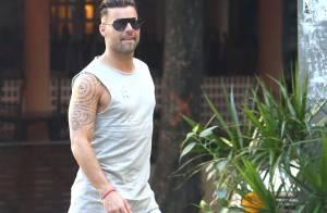 Ricky Martin grava cenas do clipe oficial da Copa do Mundo no Leblon, no Rio