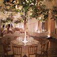 Detalhes do interior da recepção do casamento de Latino e Rayanne Morais