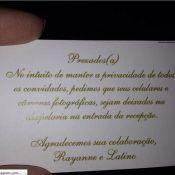 Casamento Latino: convidados entregam celular e passam por detector de metais