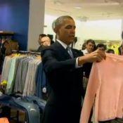 Barack Obama compra roupas em loja popular nos Estados Unidos