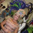 Susana Vieira vai ao barracão da Grande Rio, na Cidade do Samba, na zona portuária do Rio de Janeiro, para tirar medidas para sua fantasia do desfile no próximo Carnaval, em 17 de janeiro de 2013