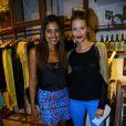 Yasmin Brunet e Ildi Silva no lançamento da coleção de inverno da Eva, marca feminina da Reserva, em Ipanema, no Rio de Janeiro, desta quarta-feira, 27 de março de 2014