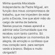 Mariana Rios justifica saída do posto de rainha de bateria: 'Compromissos de trabalho'