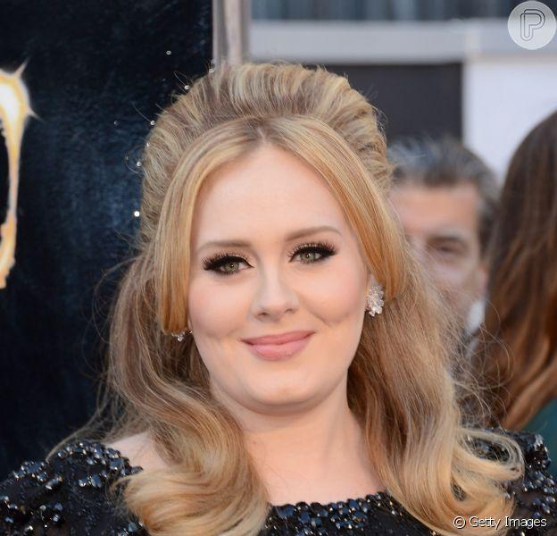Adele quer divulgar seu novo CD com um grande show em Londres, na Inglaterra, 22 de abril de 2014