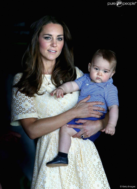 Kate Middleton afirmou que o filho, príncipe George engordou durante viagem à Austrália
