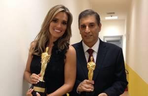 Carlos Nascimento, em tratamento de câncer, emociona público no Troféu Imprensa