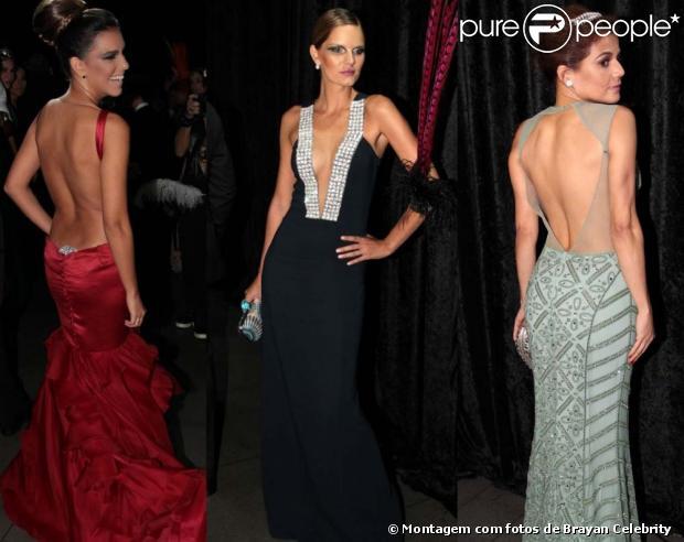Mariana Rios, Marcelle Bittar e Nívea stelmann capricharam nos decotes para o Baile de Carnaval da Vogue