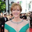 Agnes Soral usou uma tiara de trança na abertura do Festival de Cannes