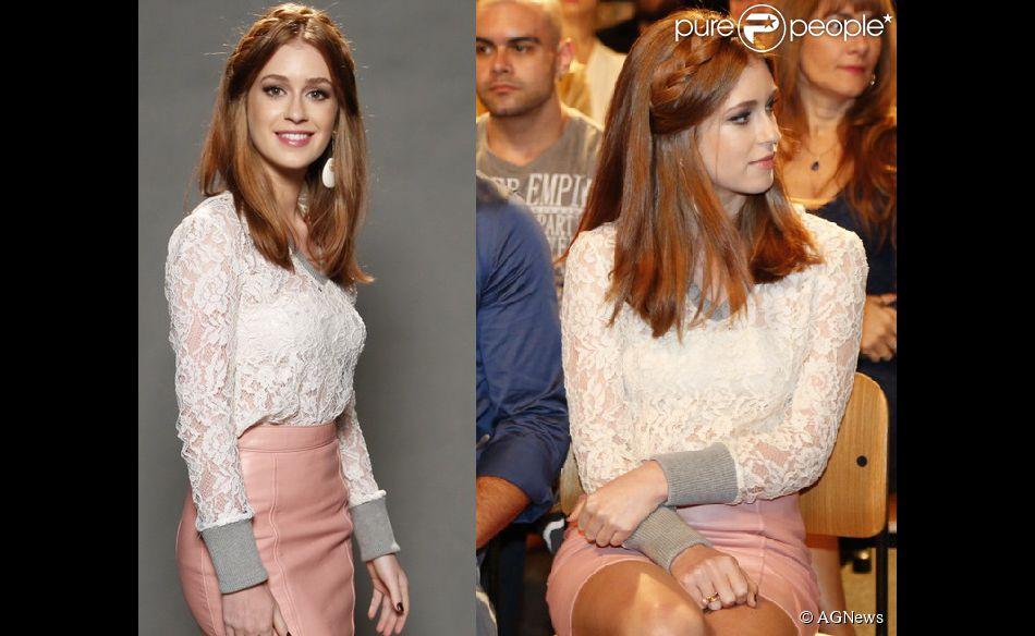 Marina Ruy Barbosa se tornou uma verdadeira fã da trança tiara após cortar os seus longos cabelos ruivos