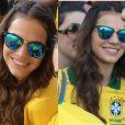 Bruna Marquezine elegeu um duas tranças fininhas para assistir a abertura da Copa do Mundo 2014