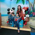 Isabella Fiorentino leva os filhos trigêmeos ao espetáculo 'Disney On Ice', em São Paulo