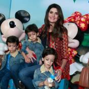 Isabella Fiorentino leva os filhos trigêmeos ao espetáculo 'Disney On Ice'
