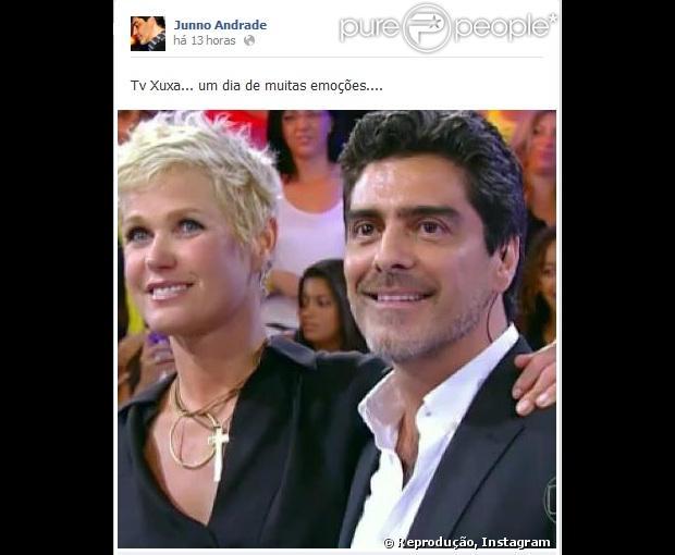 Depois de três anos solitários, Xuxa encontra um novo amor, o ator Junno Andrade, revelado pela revista 'Caras' em 29 de janeiro de 2013