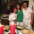 Mel é mãe de Theo, de 11 anos, e namora o músico João Marco André