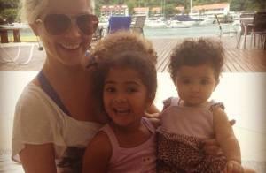 Lara, filha mais nova de Samara Felippo, comemora seu primeiro aniversário
