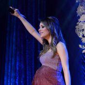 Grávida de sete meses, Sandy faz último show antes de dar à luz: 'Muita emoção'