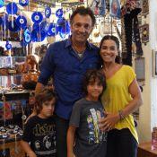 Domingos Montagner leva a família para acompanhar gravação de 'Salve Jorge'