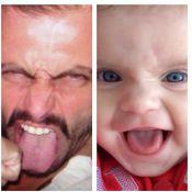 Henri Castelli publica foto de sua filha fazendo a mesma careta que ele