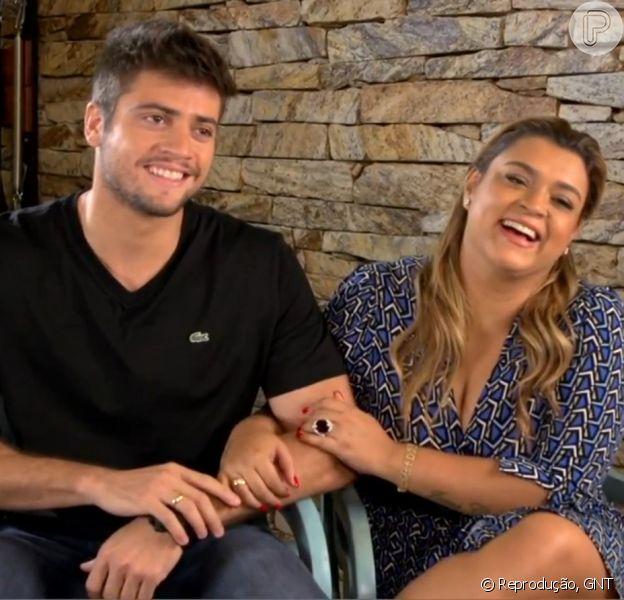 Rodrigo Godoy, noivo de Preta Gil falou que a cantora está emagrecendo e ele engordando