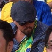 Leonardo DiCaprio assiste ao jogo do Brasil da arquibancada no Itaquerão
