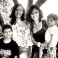 Claudia Ohana já é avó. A filha Dandara Guerra é mãe de Martin e Arto