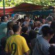 Julio Cesar estava em uma feira na Barra da Tijuca, Zona Oeste do Rio de Janeiro, com Susana Werner