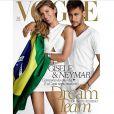 Capa da Vogue, Gisele Bündchen posou ao lado de Neymar; segundo revista 'Forbes', modelo vale sete vezes mais que o jogador