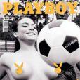 Patrícia Jordane foi capa da revista Playboy na Sérvia. Paraq o ensaio ela fotografou em São Paulo, na Granja Vianna e no estádio do time Santo André