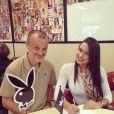 Patrícia Jordane garante que foi contratada como modelo pela 'Playboy' e a chamada de capa foi criada pela equipe da 'Playboy', cujo diretor é Sérgio Xavier