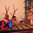 Grazi Massafera, que será Esther, a protagonista de 'Flor do Caribe', se diverte em gravações na Guatemala, em janeiro de 2013